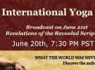 International Yoga Day – June 20th @7:30 PM Webinar by Swamiji